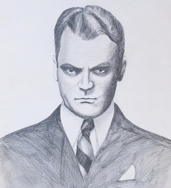 James Cagney. Pencil on paper when I was around 16 years old.