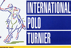 A poster that I designed for the annual Berlin Polo tournament.