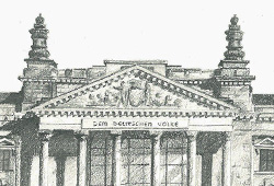 The Reichstag in pencil.