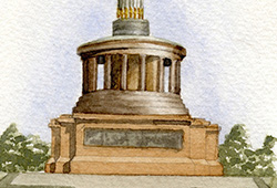 This is from the same collage - watercolour of the 'Victory Column'.
